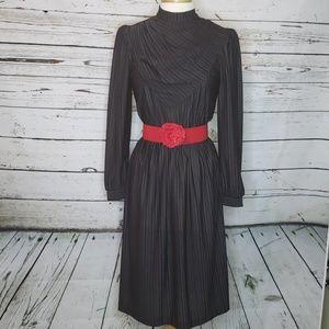 Vintage Perwinkle Sheer Stripe Dress